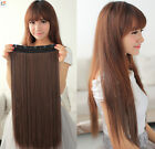 100/120/140g Thick Full Head One Piece Clip In Remy Human Hair Extensions