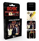 ACDC set of 4 cork backed drinks coasters (ge)