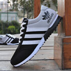 New Fashion Mens Sneakers Canvas Mesh Breathable Sports Running Casual Shoes