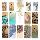 New Colorful Cute Transparent Hard Back Pattern Case Cover For iPhone 7/7 Plus