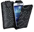 BLACK FASHION DIAMOND BLING FLIP CASE FOR SAMSUNG GALACY NOTE 2 N7100 UK SELLER