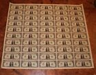 Full Uncut One Dollar Bill Currency sheet $1 x 50 Federal Reserve Notes Money