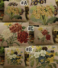 """14"""" VTG Floral Needlepoint Pillow - Design By Pierre-Joseph Redoute"""