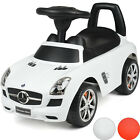 Kids Mercedes Benz Ride On Car Toddler Balance Push Along Walker Toy With Sounds New