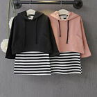 2PCS Toddler Kids Baby Girls Outfits Hooded Tops + T-shirt Dress Clothes Set