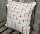 "NEW cream check tweed fabric handmade 16"" CUSHION/COVER"
