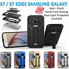 Samsung Galaxy S7 / S7 Edge Armor Case Cover Kickstand Shockproof Tradesman Card