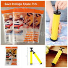 Jumbo Space Saver Bags Storage Bag Vacuum Seal Organizer Air Pump Garment Bags