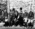 Old Photo. Albert Einstein & Native American Indians