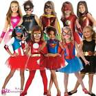 GIRLS OFFICIAL SUPERHERO HALLOWEEN KIDS FANCY DRESS COSTUME TUTU OUTFIT 3-10 YRS