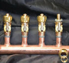 "1"" Copper Manifold 1/2"" Compresson Pex-AL-Pex (With & W/O Ball Valves) 2-12 Loop"