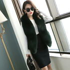 2016 100% Real Genuine Fox Fur Jacket Coat Outwear Wrap Women Thick Gilet Vest