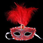 Attractive Feather Lace Rhinestone Mask Halloween Carniva Party Cosplay Props