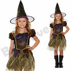 CHILDRENS KIDS GIRLS GOLD WITCH HALLOWEEN FANCY DRESS COSTUME 4-9 YEARS