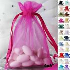 "50 pcs 4""x6"" ORGANZA BAGS - Wedding FAVORS Drawstring Gift Pouch Decorations"