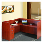 "Boss Office Products Reception 40"" H x 42"" W Reversible Desk Return"
