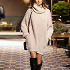 2017 NEW  SMART HIGH NECK SWEATERS PULLOVER KNITTED DRESS WINTER SWEATER PLUS