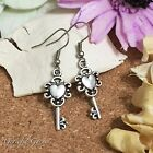 ER2725 Graceful Garden Vintage Style Love Heart Charm Dangle Earrings
