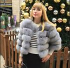 New Women Real Whole Fox Fur Coat Geunine Short Jacket Fox Outwear Garment  Good