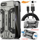 iPhone 6/7 Plus Coiled Lightning Cable Car Charger Curved Glass Film Stand Case