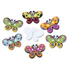 10:20:30 Colourful Mixed Butterfly Buttons