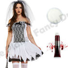 10 12 14 LADIES TEEN CORPSE BRIDE HALLOWEEN SCARY ZOMBIE FANCY DRESS COSTUME