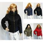 New Ladies Quilted Padded Puffer Fashion Collar Warm Thick Bubble Womens Jacket