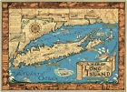 1933 Pictorial Map of Long Island Historic Art Print Poster Courtland Smith