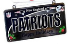 New England Patriot Team Ornament / Plaque Champions Brady Gronk