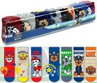 7 PAIRS Assorted Childrens Kids Boys Official Paw Patrol Chase Character Socks