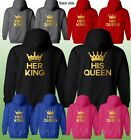 King Queen Couple Hoodie - King  Queen Custom Couples His & Hers Love Matching