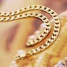 """SALE 9K 9ct """" Gold Filled """" Men Curb Links Necklace Various Size Xmas Gift N908"""