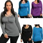 New Women Long Sleeve Casual Loose Blouse T-Shirt Tops Ladies Fashion Plus Size