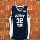 Jimmer Fredette #32 Basketball Stiched Jersey Brigham Young University Navy Blue