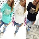 Fashion Women Loose Tops Shirt Beach Blouse Casual Long Sleeve T-Shirt Pullover
