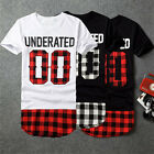 Short-sleeve Lattice Cover Buttocks T-shirt Black Matrix 4 Sizes Black Red White