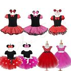 Baby Girl Minnie Mouse Polka Dots Tutu Skirt Birthday Party Outfit Costume Dress