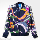 ADIDAS Originals Women Floral Burst Superstar Chiffon Zip Track Top Jacket
