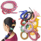5,10 Spiral Hair Bands Girl's THICK Hair Bobbles Ponytail Elastic Stretchy Bands
