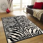 AllStar Rugs Hand-Tufted White/Black Area Rug