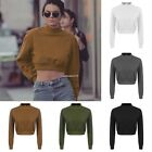 New Fashion Women Long Sleeve O-neck Loose Pullover Casual Short Crop Tops
