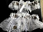 New Orleans Saints Football NFL Bridal Garter Set White lace Regular / Plus size
