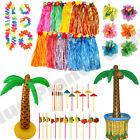 HAWAIIAN HULA LUAU SUMMER HULA SKIRT POOL PARTY FANCY DRESS ACCESSORIES LOT