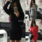 Womens Ladies Hooded Hoody Sweatshirt Long Sleeve Bodycon Hoodies Jumper EN24H
