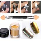 1 Box Mirror Glitter Powder Nail Art Pigment Chrome Manicure Gold/Silver S0BZ
