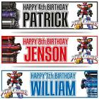 """2 PERSONALISED POWER RANGERS BIRTHDAY BANNERS 36 """"x 11"""" - ANY NAME ANY AGE"""