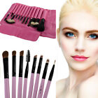12X Professional Goat Hair Cosmetic Makeup Brushes  Set With Rhodo Bag Tool