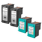 4pk BLACK COLOR Ink Print Cartridge for HP 74XL & HP 75XL