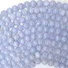 """Blue Lace Agate Round Beads Gemstone 15.5"""" Strand 4mm 6mm 8mm 10mm 12mm"""