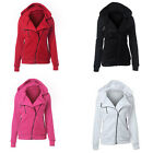 Women Girl Warm Cotton Blend Zipper Hooded Coat Long Sleeve Jacket Outerwear New